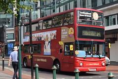 NXWM 4448 @ Priory Queensway, Birmingham (ianjpoole) Tags: national express west midlands transbus trident alx400 bj03euw 4448 working route 14 priory queensway birmingham chelmsley wood interchange