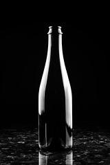 Wine or Beer? (Nicholas Erwin) Tags: wine beer bottle lowkey lighting blackandwhite monochrome bw mono contrast reflection shiny fujifilmxt2 fujixt2 fujifilm fuji xt2 xf60mmf24rmacro xf60 6024 fujixf6024 simple simplicity glass alcohol drink fav10 fav25