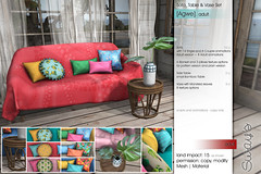 Sway's [Agwe] Sofa, Table & Vase Set | Spotlight (Sway Dench / Sway's) Tags: furniture sofa couch plant table bamboo monstera summer