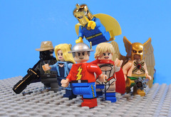 JSA (-Metarix-) Tags: lego minifig jsa justice society america custom jay garrick power girl black canary sand man doctor fate hawkman dc comics comic