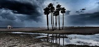 Paisaje después de la tormenta  Coma-ruga (Tarragona/Spain)