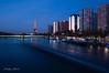 Paris 2018 - Front de Seine (cesbai1) Tags: 75 paris ile de france front seine tour eiffel blue hour heure bleue pose longue long exposure water eau fleuve architecture immeubles