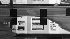 urban reflections 04 (byronv2) Tags: urban reflection reflections puddle water financialdistrict architecture building wet modernarchitecture contemporaryarchitecture tollcross blackandwhite blackwhite bw monochrome