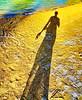 A birthday beach SP (peggyhr) Tags: peggyhr birthday beach footprints sand water sunshine dsc06249ab hawaii shadow textures