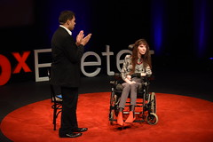 Dawn Faizey Webster speaking at TEDxExeter 2018 at Exeter Northcott Theatre (TEDxExeter) Tags: tedxexeter exeter tedx tedtalks ted audience tedxevent speakers talks exeternorthcott northcotttheatre devon crowd inspiring exetercity tedxexeter2017 lockedinsyndrome lis dawnfaizeywebster academic blinkwriting england eng