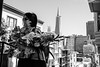 Flower Lady ([nixon]) Tags: bw lady people city light sanfrancisco fujifilmxpro2
