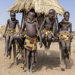 nyangaton tribe. Young girls. Omo valley Ethiopia (courregesg) Tags: ethiopia ethnic ethnographie tribe tribal traditional travel nyangaton omovalley hornofafrica jewelry
