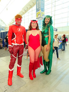 Wally, Wanda and Lorna - the Flash, the Scarlet Witch and Polaris