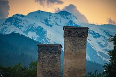 Stone towers in Mestia, Svenati, Georgia (CamelKW) Tags: georgia june2017 stonetower mestia svenati