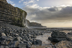 THE HERITAGE COAST, SOUTH WALES, UK. (IMAGES OF WALES.... (TIMWOOD)) Tags: southerndown vale og of glamorgan traeth bach mawr withes point bridgend porthcawl coast seascape waterfall beach rocks tide cliffs cliff landscape tim wood gallery photographer