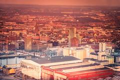 Malmö city view (Maria Eklind) Tags: view sunset nature himmel spegling sweden outdoor öresund malmö solnedgång reflection skyhighmeetings ocean sky water architecture turningtorso utsikt city skånelän sverige se