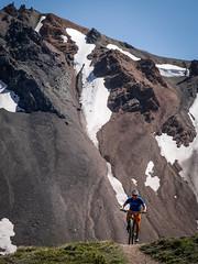 Mike K. on the Deer Pass route (Jonathan Teapot) Tags: panasonicgx1 chilcotins deerpass lornapass windypass eldoradobasin panasonic45150mmf40f56g panasonic20mmf17 mountainbiking backcountry tyax tyaxadventures hummingbirdlake guncreek