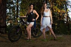 Sara (austinspace) Tags: woman portrait spokane washington model bike biker racer downhill winner mountain dress clone multiplicity twosides