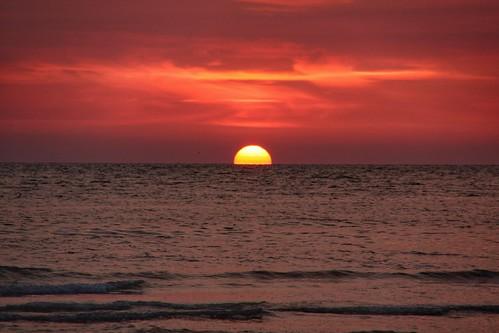 Red sun.
