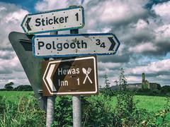 <-- Sticker  Polgooth --> (John Willoughby) Tags: england unitedkingdom gb cornwall street sign sticker polgooth hewesinn tinmine