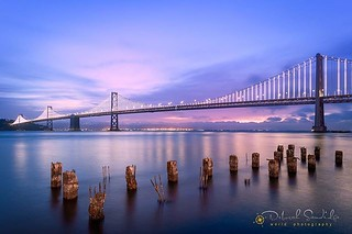 Good morning! ☀️ Dawn at the San Francisco-Oakland Bay Bridge, photographed with my Nikon D850, Nikkor 16-35mm lens, 30 seconds, using my Platypod tripod on the sea wall. Happy Thursday, have a great day! ☀️📷💙 • #travelphotogra