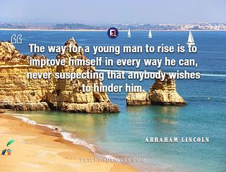Abraham Lincoln Quote way young man