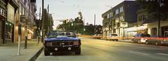 Camaro SS (Orion Alexis) Tags: film 35mm analog chrome slide reversal fujichrome fujifilm tx1 xpan camaro classic vintage muscle car vancouver evening night panorama widescreen cinematic provia 100f 100 f