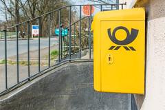 Right on the Border (Gerry Lynch) Tags: netherlands niederrhein border nrw emmerich sheerenberg signs postbox germany