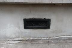 20th July 2018 (themostinept) Tags: letters wall white black metal london ec1 roseberyavenue word letterbox lettering urdangacademy islington