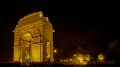 Amber Night (Anindo Ghosh) Tags: newdelhi delhi india in arch nightphotography outdoor trees indiagate amarjawanjyoti warmemorial rajpath