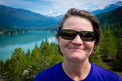 Amanda and the lake.