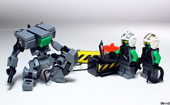It's time to give it power (Devid VII) Tags: devid devidvii vii drone scene mecha mech military lego moc minifigs minifig