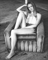 Melissa (adampmane) Tags: 4x5 large format sheet film ilford hp5 400 black white minimal portrait natural light mpp schneider 150mm f45