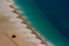 Life's a beach hut (snowyturner) Tags: sesimbra arrabida aerial beach coast atlantic sand hut sea perspective cusps