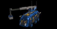 o4 transport vehicle crane (demitriusgaouette9991) Tags: lego ldd army military crane apc transport vehicle