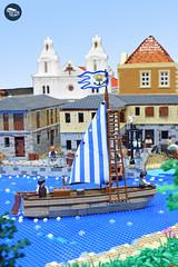 Raid on Maracaibo 3 (Cuahchic) Tags: lego foitsop pirates ship architecture colonial boat church mansion villa spanish english treasure