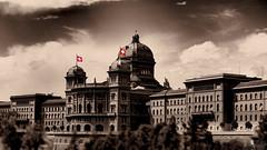 Happy Birthday Switzerland (LeWelsch Photo) Tags: happybirthday switzerland swiss celebrating nationalday houseofparliament bundeshaus palaisfederal kirchenfeldbrücke sepia bern rx100m3 rx100iii lewelsch lewelschphoto