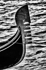 a symbol of Venice (gianmaria.colognese) Tags: gondola venezia simbolo symbol bw water acqua onde wave