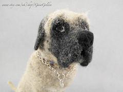 Mastiff July  2018_9 (GaiaGolden) Tags: english mastiff needle felt felted wool sculpture ornament dog mongrel macro eyes animal art fibre miniature figurine pet portrait ooak