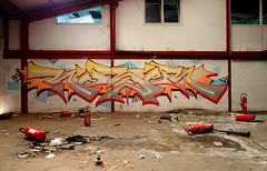 RUBER (Ghetto En Kouleurs) Tags: graffiti graff tag wildstyle world ruber gek team loire saint etienne france jaune yellow hip hop old new school fire red abandonned place friche urbex 20092018 usines mercier velo lapierre velib
