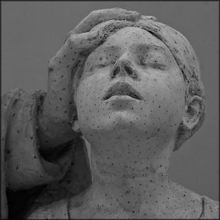 2 - Musée Camille Claudel - Alfred Boucher, Monument du docteur Panas, Avant 1905, Modèle en plâtre avec marques de mise aux points - Détail