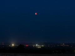 Lunar eclipse with Mars / Blutmond mit Mars (2018-07-27) (ralph_behrens) Tags: lunareclipse blutmond bloodmoon mars olympus getolympus omdem1markii summer sommer 2018 nrw nordrheinwestfalen germany deutschland