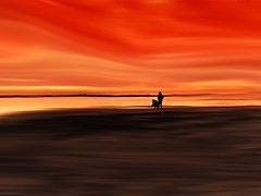 """The sky is everywhere, it begins at your feet.""""  ― quote by Jandy Nelson, (Eggii) Tags: view evening photographers skyline artwork photography landscape bird massa italy tuskany sea sky red sunset people mood trip journey dreamy"""
