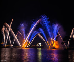 Fireworks at Disney world, Epcot (CreativeKumar!) Tags: fireworks disneyworld nightphotography longexposure florida canon 5dmarkiii 5d markiii night amazing disneyfireworks orlando summertime wow cool beautiful blue globe worldshowcase