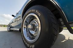 Camaro with BF Goodrich Radial TA (DJ Wolfman) Tags: camaro v8 hot hotrods classic chevrolet chevy blue summer sidepipes baycity michiganfavorites michigan 1968