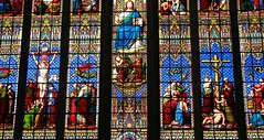 Stained Glass - Chichester Cathedral (4) (Richard Collier - Wildlife and Travel Photography) Tags: stainedglass stainedglasswindow stained churchwindows chichestercathedral chichester