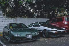 Mazda RX-7 (FD3S) and Toyota Sprinter Trueno (AE86) (Justin Young Photography) Tags: cars manila philippines stancepilipinasmanilafitted toyota sprinter trueno ae86 mazda efini rx7 fd3s initiald