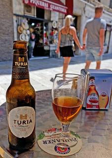 Bottle of Turia (Cafe Bar L'Abadia - Valencia) Panasonic Lumix LX100