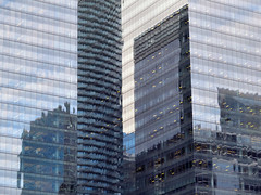 Toronto Skyscrapers (duaneschermerhorn) Tags: toronto ontario canada city urban downtown architecture building skyscraper structure highrise architect modern contemporary modernarchitecture contemporaryarchitecture reflection reflective reflectivebuilding glass windows glassclad mirror distortion