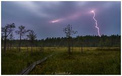 Thunderstorm (Kyösti Välitalo) Tags: thunder lightning rain landscape dark forest path