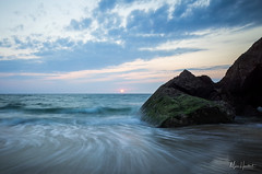 Capbreton waves (Marc Heurtaut) Tags: capbreton colors longexposure water waterfront atlanticocean beach clouds composition dusk france landscape ricohgr sunlight sunset wideangle nouvelleaquitaine fr