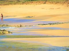 Tide marks (thomasgorman1) Tags: beach tide canon sand sea water shore snorkeling woman hawaii island molokai papohaku lava rocks rocky lavarock