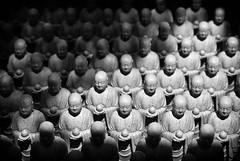 Buddhist Monks (schmaeche) Tags: hasedera figuren buddhist kamakura tempel figures bw monk weiss schwarz moench black buddhistisch japan temple white kamakurashi kanagawaken jp bwartaward