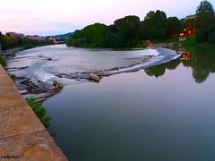 Po river (archgionni) Tags: water sky river alberi trees città city luci light sera evening torino turin italia italy tramonto sunset