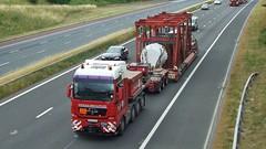 BX09 AZG (panmanstan) Tags: man tgx wagon truck lorry commercial heavy haulage freight transport vehicle m6 motorway cumbria